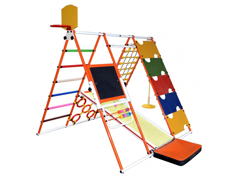 Детский спортивный комплекс Формула здоровья Аистенок-1А Плюс Синий радуга