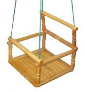 Купить качели деревянные детские к дск в Минске недорого на Vishop.by